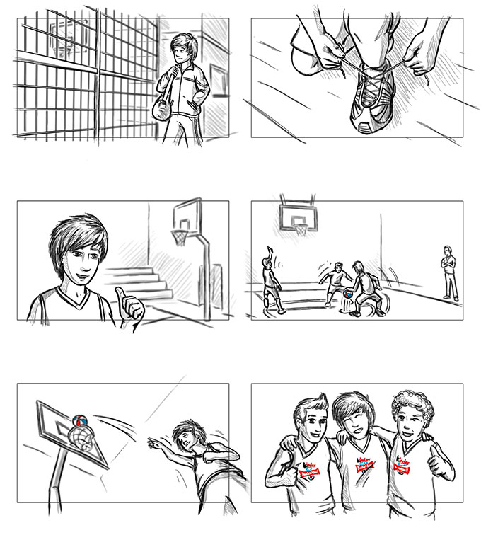 Ferrero – Basketball Storyboard